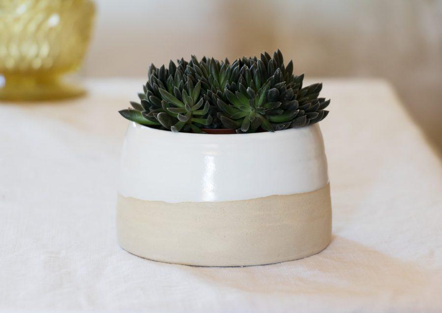 Pot émail blanc - Loun maison mathuvu