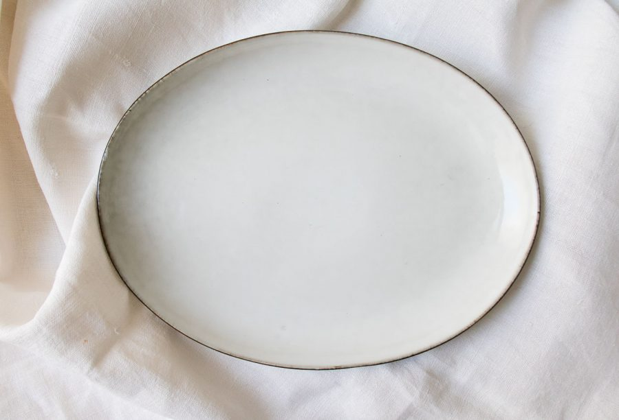 Assiette plate ovale - Amera blanc Lene bjerre - maison mathuvu