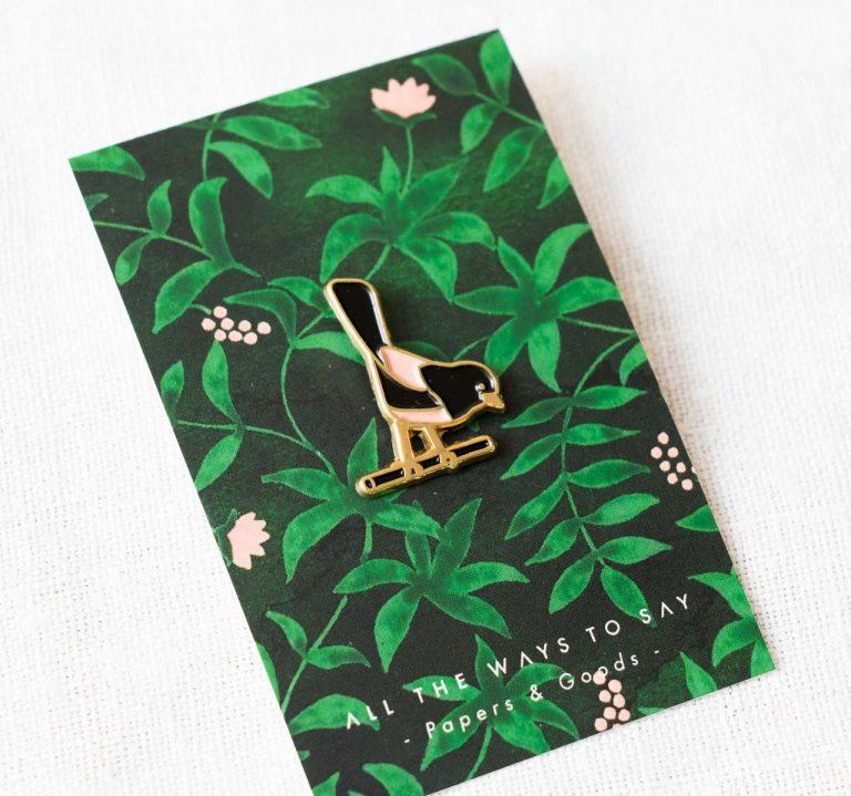 Pin's - Oiseau All the ways to say - maison mathuvu