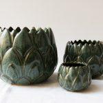 Cache-pot - Artichaut vert Madam Stoltz - maison mathuvu