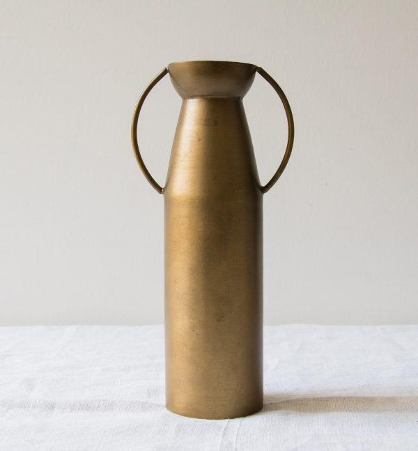 Vase en laiton - Haut Bloomingville - maison mathuvu