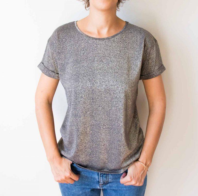 T-shirt pailleté - bitume Emile et ida - maison mathuvu