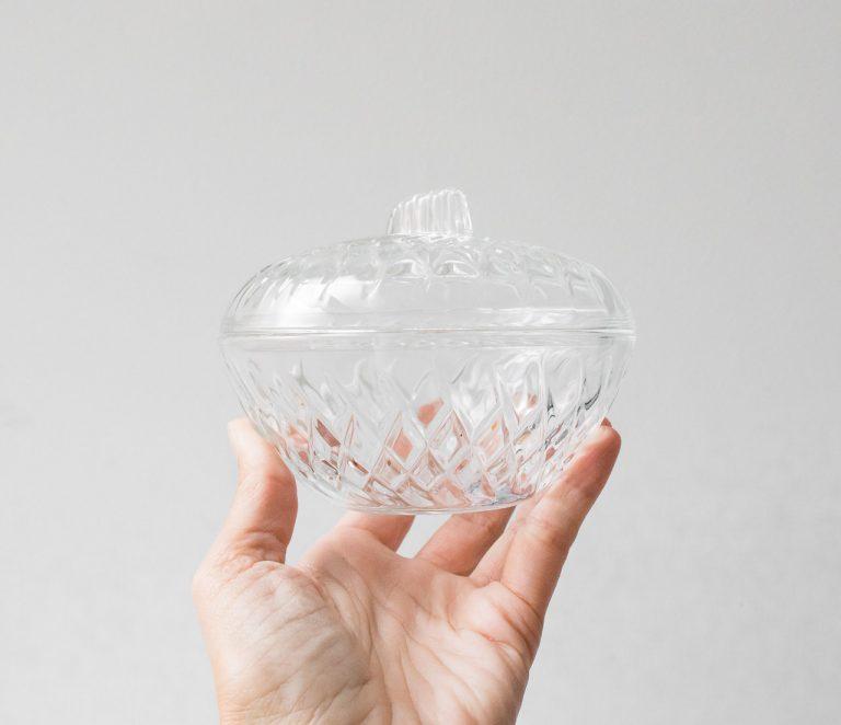 Boîte en verre - Bas chinée - maison mathuvu