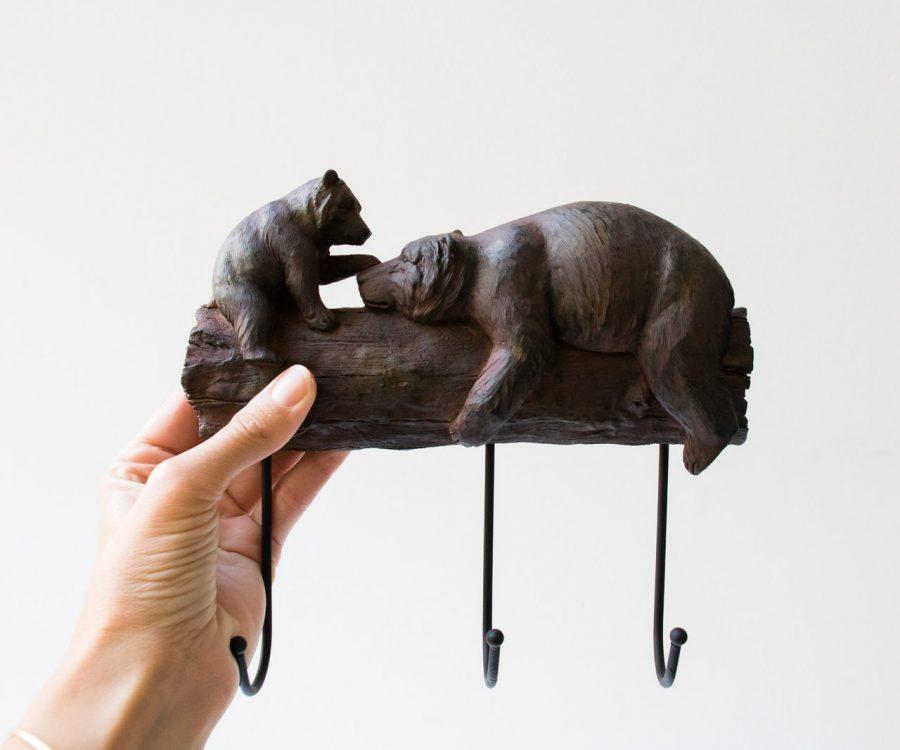 Patère - Ours joueur Chehoma - maison mathuvu