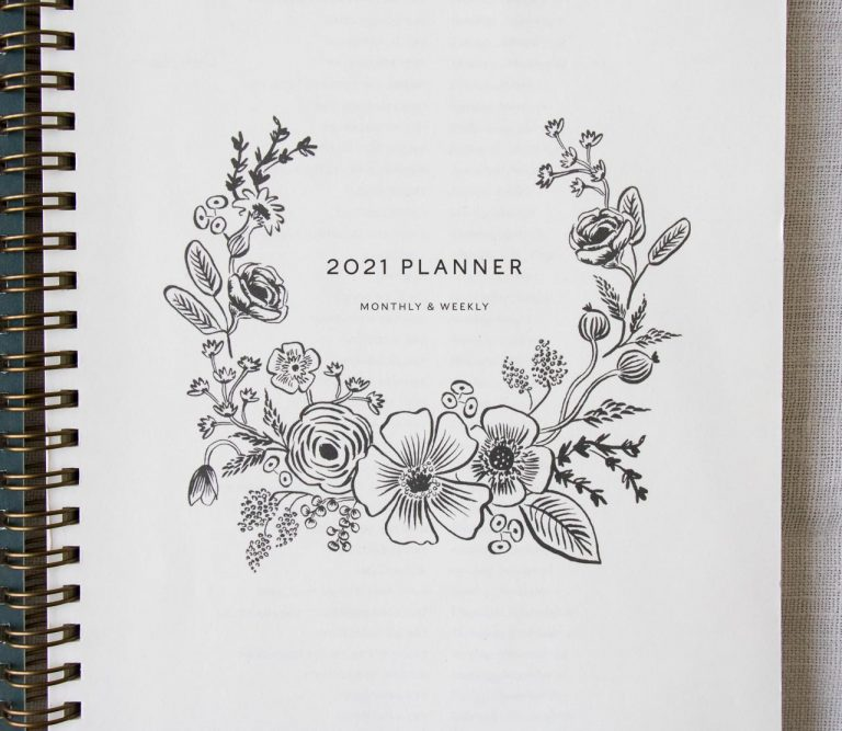 Agenda 2021 à spirales - Stawberry Rifle paper co - maison mathuvu