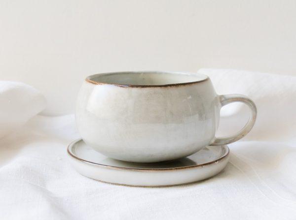 Tasse et soucoupe - Amera blanc Lene bjerre - maison mathuvu