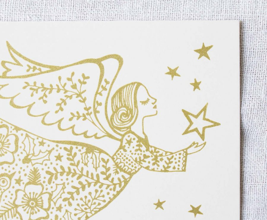 Carte - Ange de Noël Rugiada Petrelli - maison mathuvu