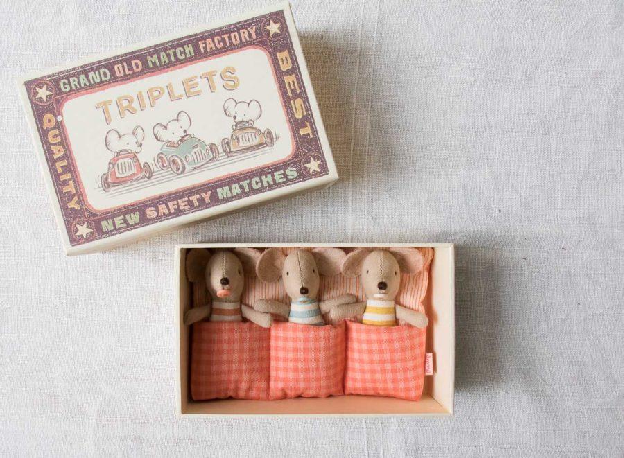 Box souris - Triplés Maileg - maison mathuvu