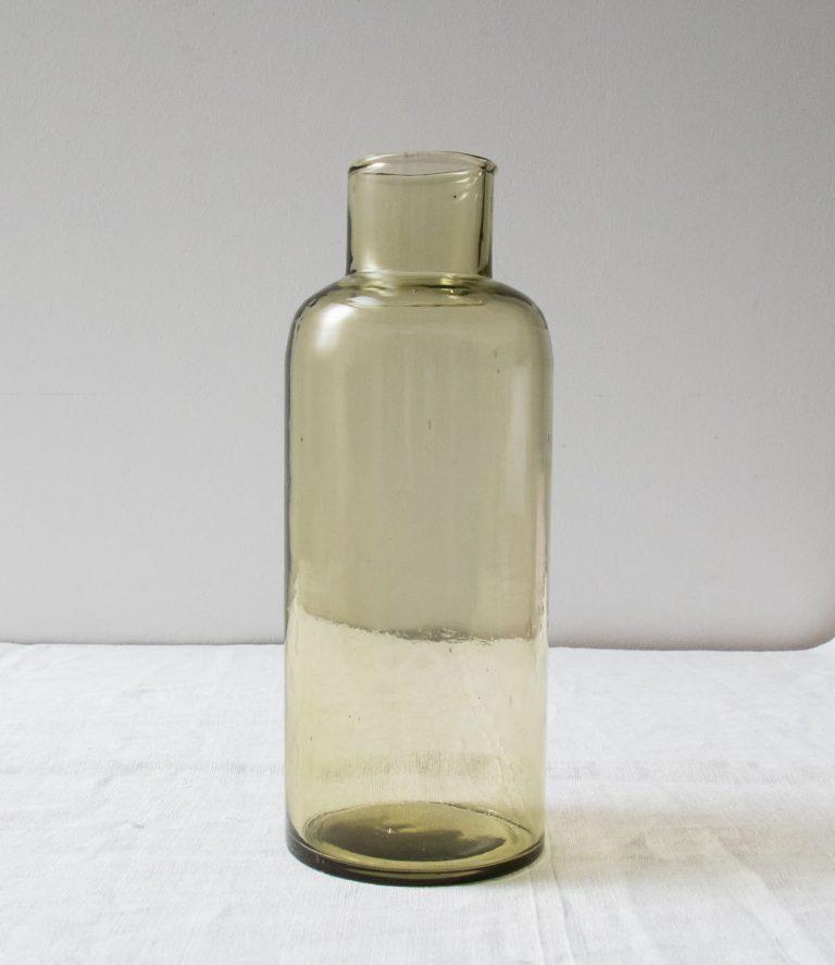 Carafe en verre recyclé Bloomingville - maison mathuvu