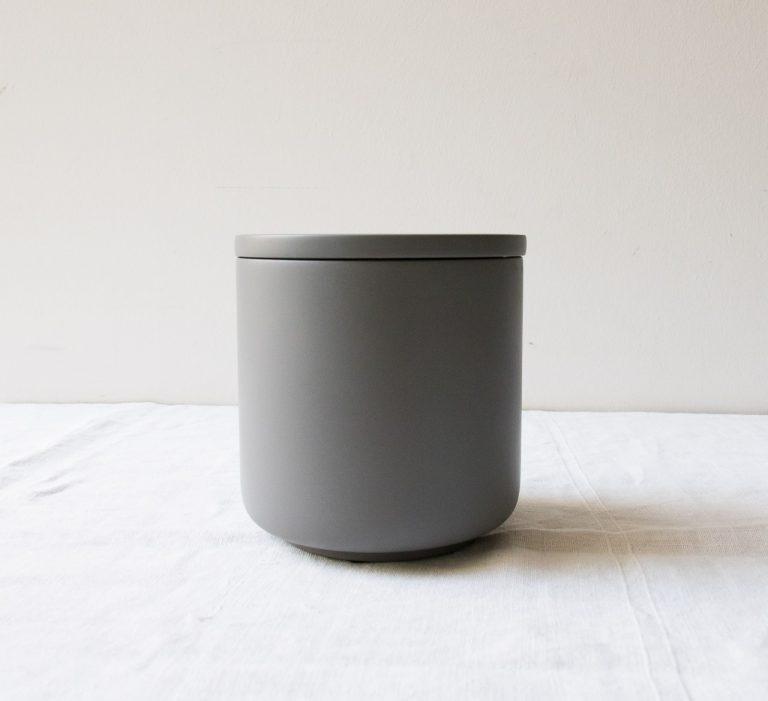 Pot Béton - Gris foncé Hübsch - maison mathuvu