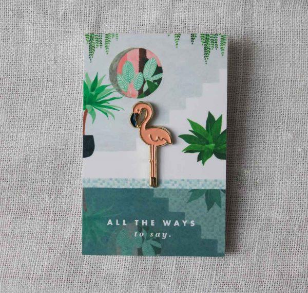 Pin's - Flamand rose All the ways to say - maison mathuvu