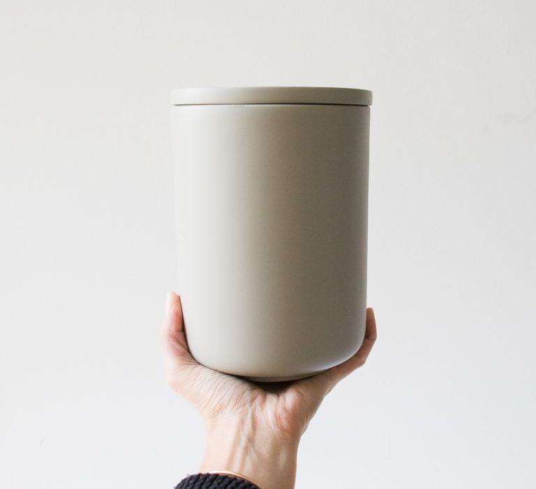 Pot Béton - Gris clair Hübsch - maison mathuvu