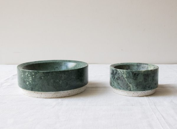 Vide-poche en marbre vert Hübsch - maison mathuvu
