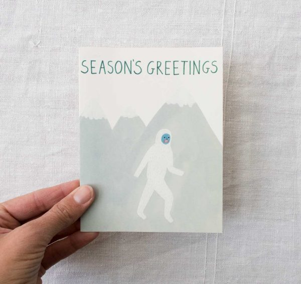 Carte - Season's greetings Red cap cards - maison mathuvu