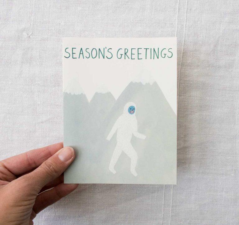 Carte - Season's greetings Red cap cards - maison mathuvu