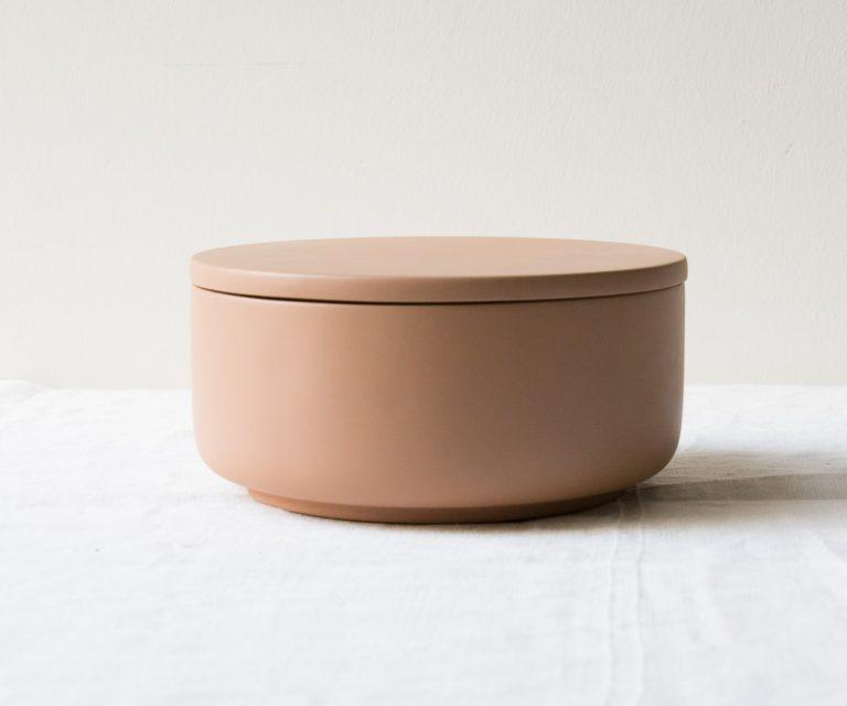 Pot Béton - Vieux rose Hubsch - maison mathuvu