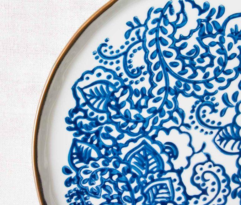 Assiette plate - Molly #3 bloomingville - maison mathuvu