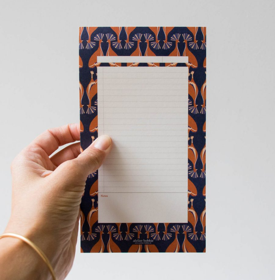 Bloc-notes - grue narcissique Atelier bobbie - maison mathuvu