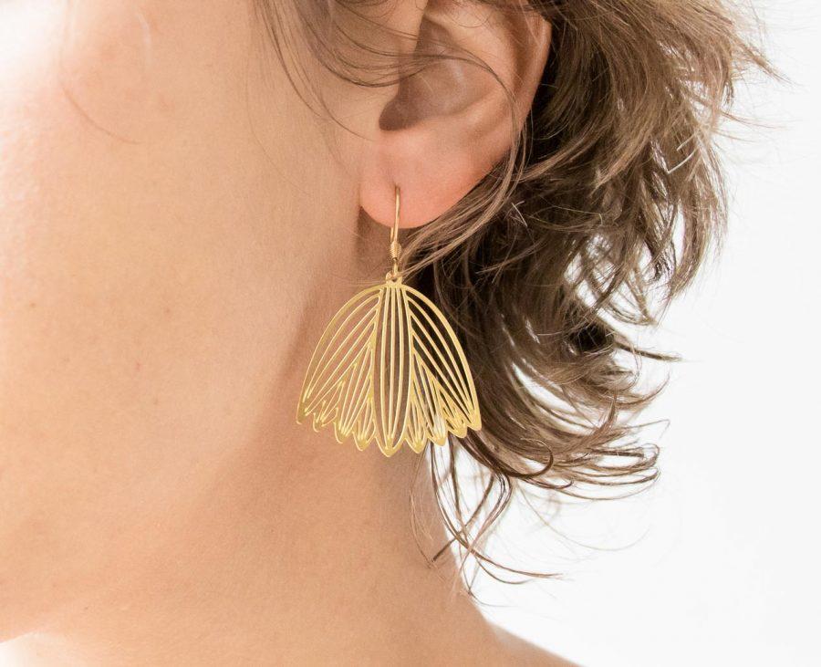 Boucles d'oreilles - Graphic jisalée - maison mathuvu