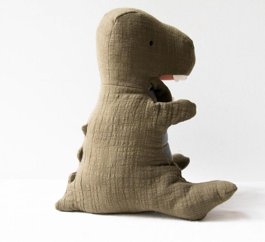 Peluche marionnette - Tyrex kaki Maileg- maison mathuvu