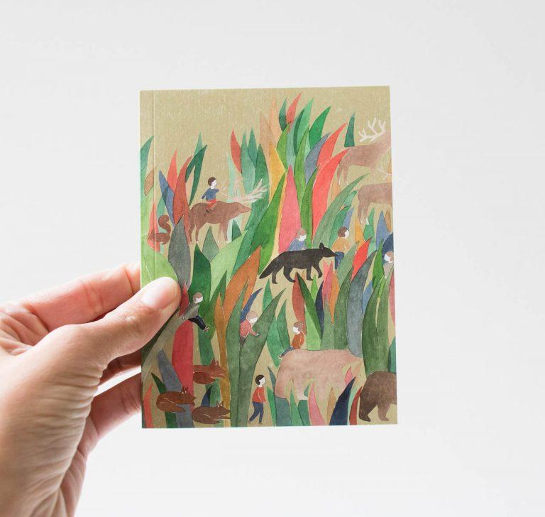 Carnet de poche - Les Herbes Petit gramme - maison mathuvu