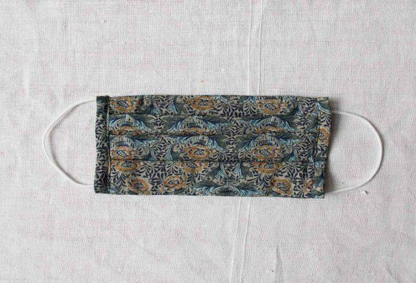 Masque barrière 3 plis - Fleur verte Maison mathuvu