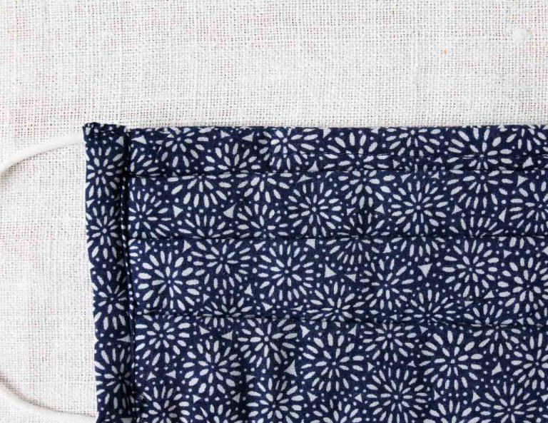 Masque barrière 3 plis - Fleur bleue Maison mathuvu