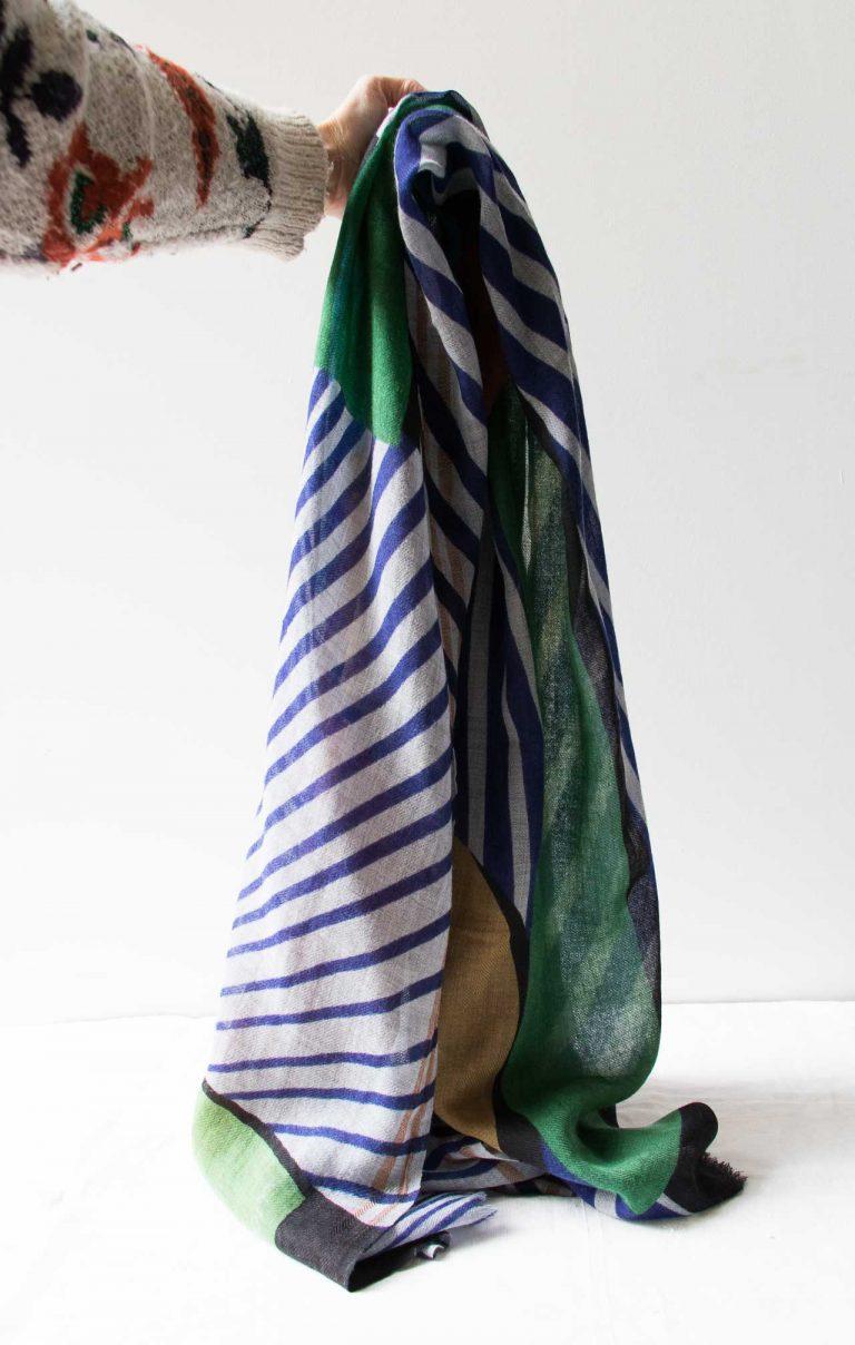 Foulard Candy - Bleu Ma poésie - maison mathuvu