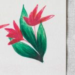 carte fleur rouge maison mathuvu