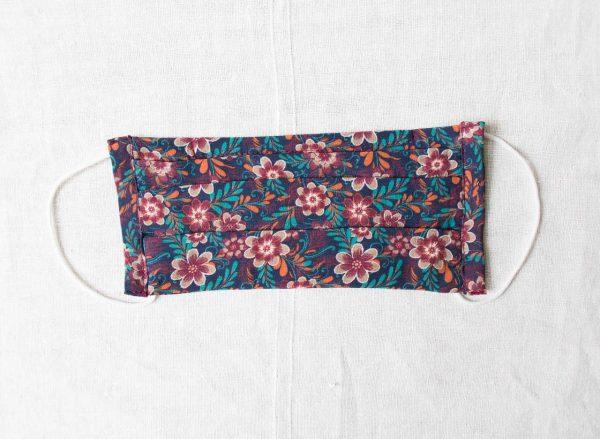 Masque barrière 3 plis - Fleur violette Maison mathuvu