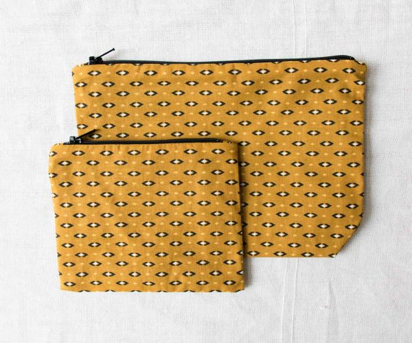 Pochette - Losange jaune Maison mathuvu