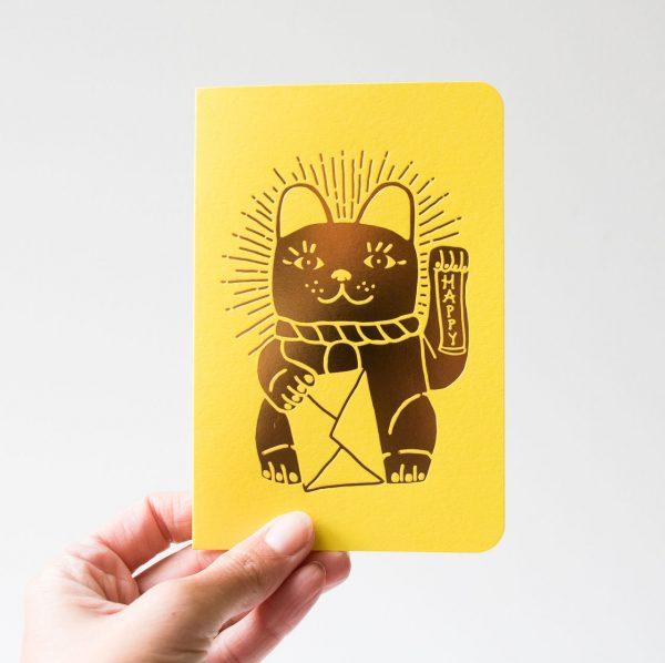 Carte - Lucky cat Les éditions du paon - maison mathuvu