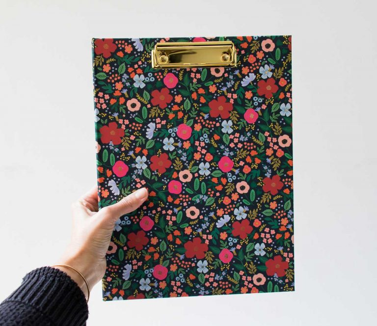 Clipfolio - Wild rose Rifle paper co - maison mathuvu