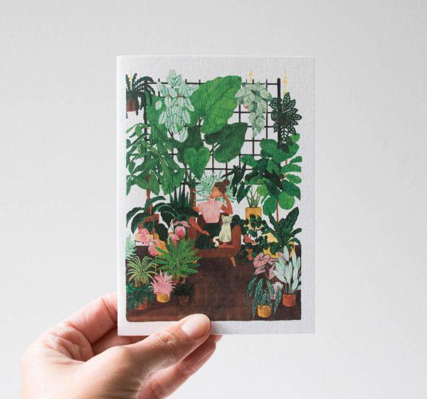 Carte - Lady plant All the ways to say - maison mathuvu