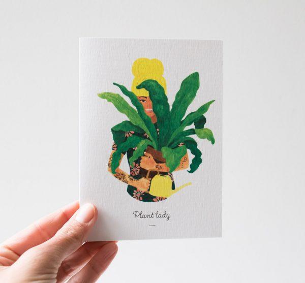 Carte - Femme aux plantes
