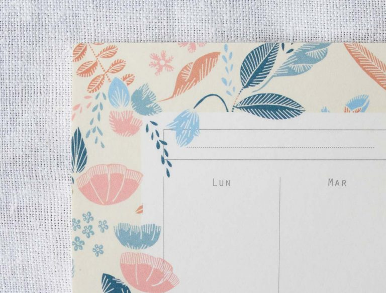 Semainier - Jardin Season paper - maison mathuvu