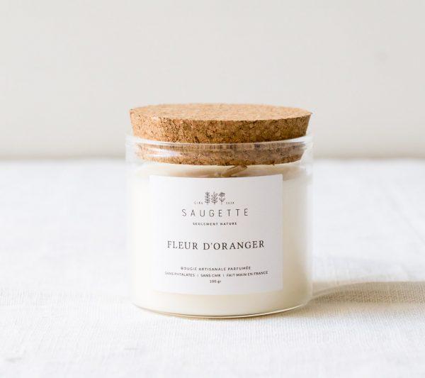 Bougie - Fleur d'oranger Saugette - maison mathuvu