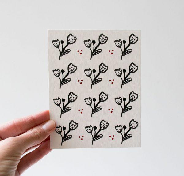 Carte - Fleur noire Maison mathuvu
