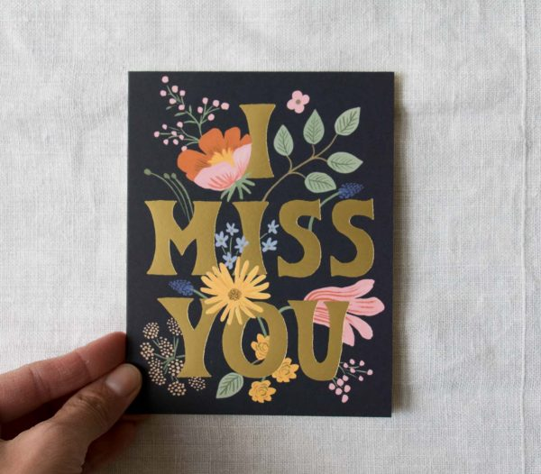 Carte - I miss you Rifle paper co - maison mathuvu