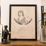 Calendrier lunaire 2021 sur les archétypes du féminin de Sophie Stellar Maison Mathûvû