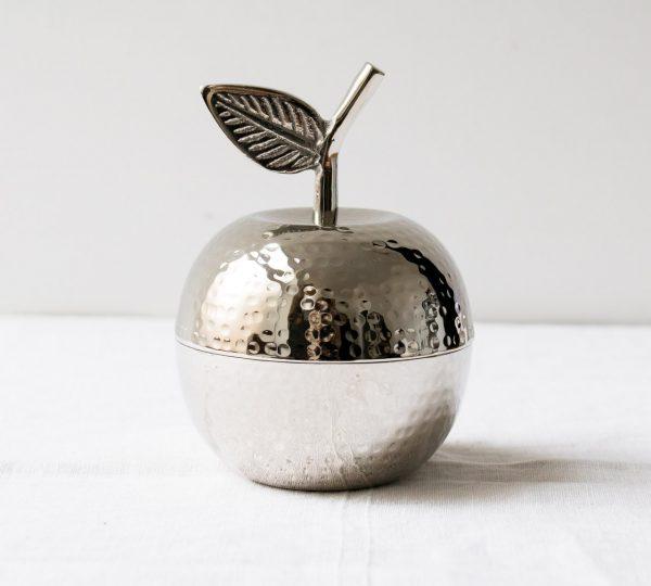 Boîte pomme - Argentée Chehoma - maison mathuvu