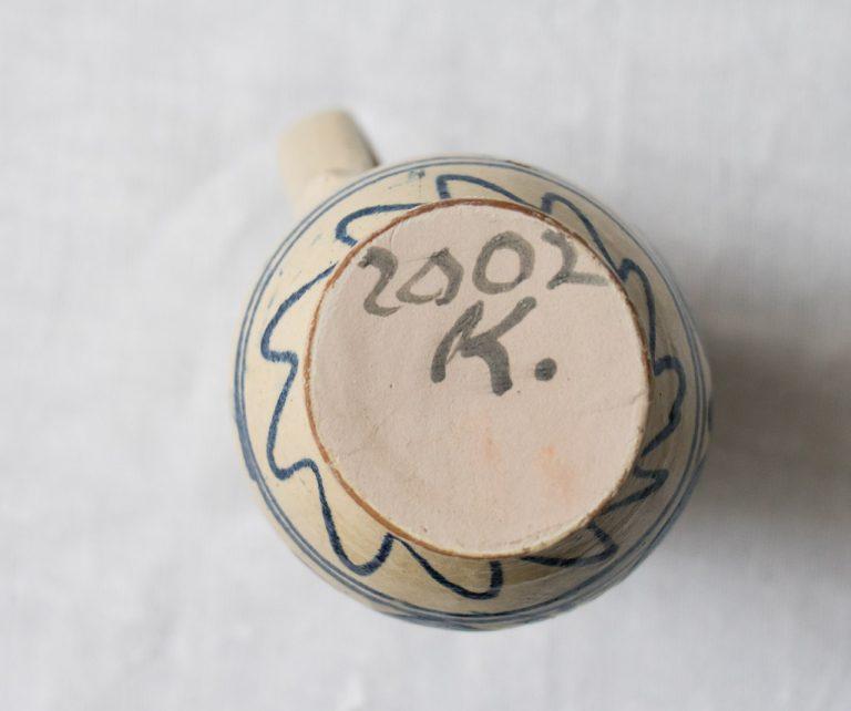 Vase bleu chiné - maison mathuvu