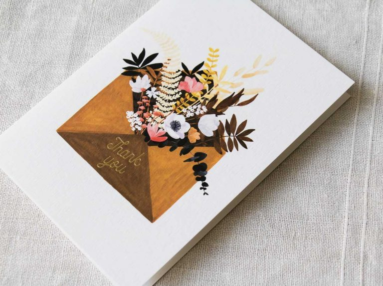 Carte - Flower envelop All the ways to say - maison mathuvu