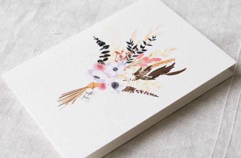 Carte - Modern bouquet All the ways to say - maison mathuvu