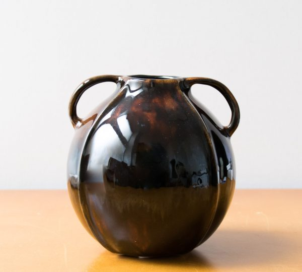 Vase marron 2 anses Bloomingville - maison mathuvu