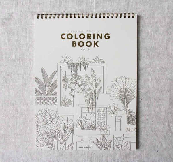 Coloring book All the ways to say - maison mathuvu