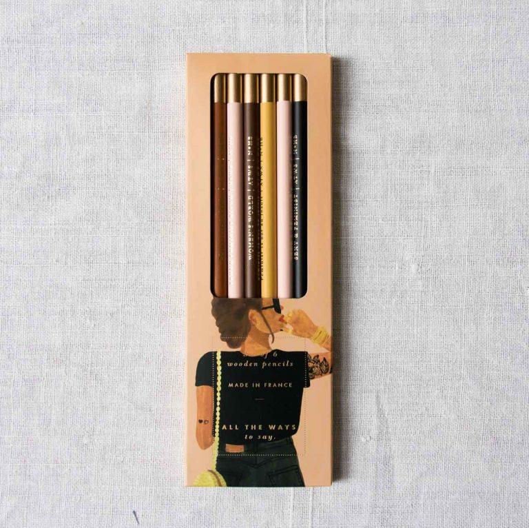 Set de 6 crayons - Proud feminist All the ways to say - maison mathuvu
