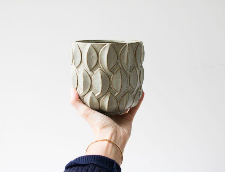 Cache-pot - Vert de gris Bloomingville - maison mathuvu