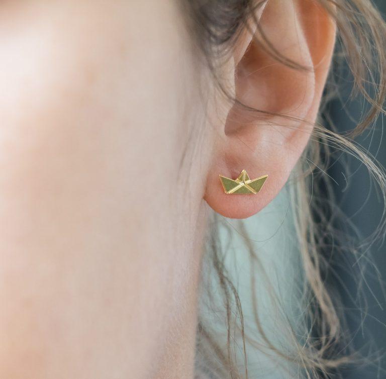 Boucles d'oreilles - Bateaux origamis Shlomit Ofir Maison Mathûvû