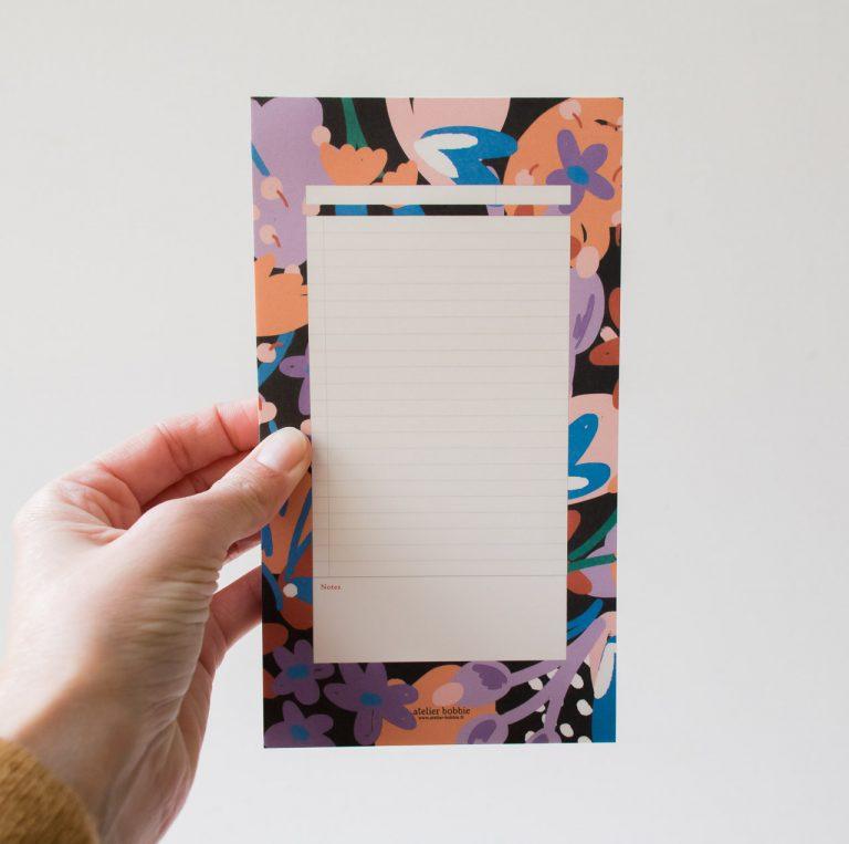 Bloc-notes - Feu de fleurs Atelier bobbie - maison mathuvu